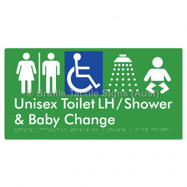 Unisex Accessible Toilet LH / Shower / Baby Change w/ Air Lock