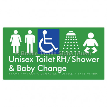 Unisex Accessible Toilet RH / Shower / Baby Change
