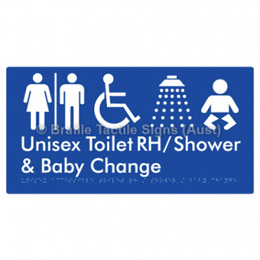 Unisex Accessible Toilet RH / Shower / Baby Change w/ Air Lock