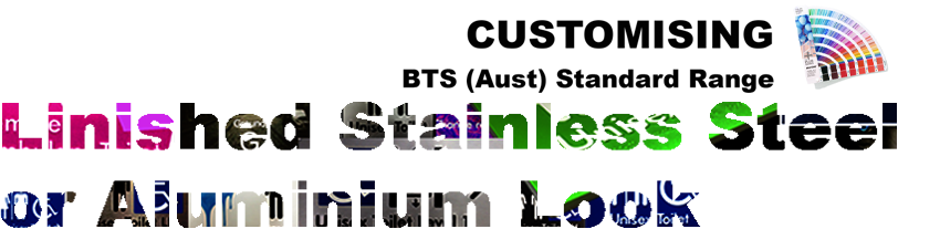 BTS (Aust) Customising Standard Range - Linished Stainless Steel or Aluminium Look